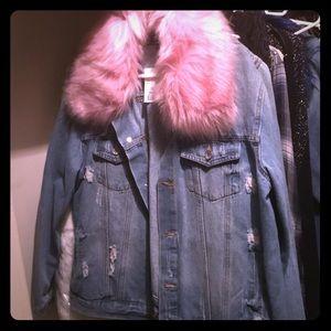 Ci sono weathered jean jacket